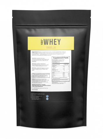 100% Whey Protein (Vanilla) - 2 lbs - 28 Servings per pack