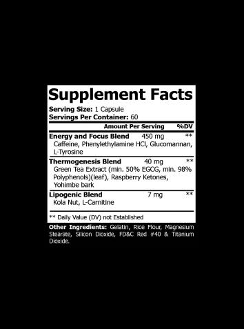 Oxy-Burn Advance Fat-loss Formula - 60 capsules per pack