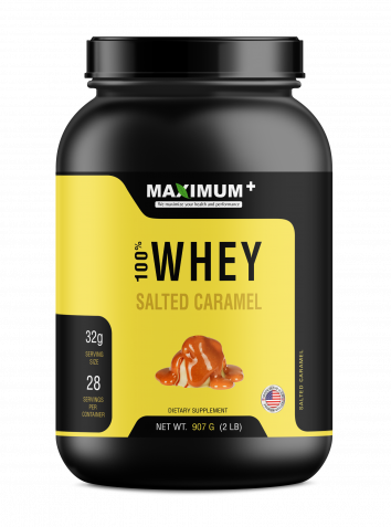 100% Whey Protein - Salted Caramel - 2 lbs - 28 Servings per pack